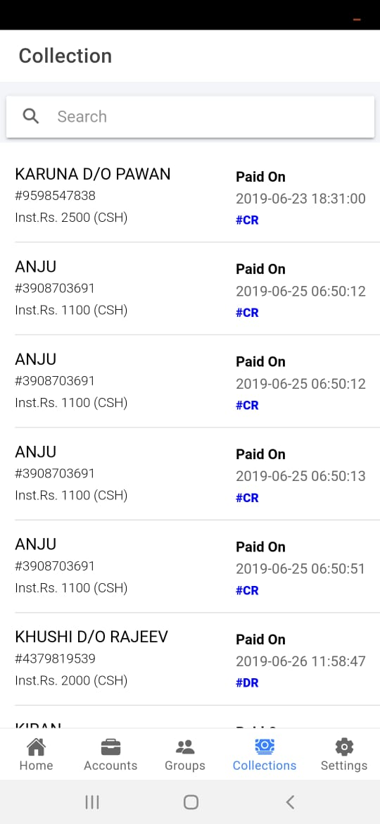 tracking payments in post agent app agent app